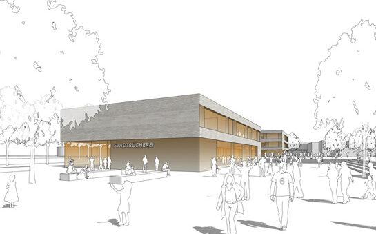 Möglingen, Neubau einer Gemeinschaftsschule mit Bücherei